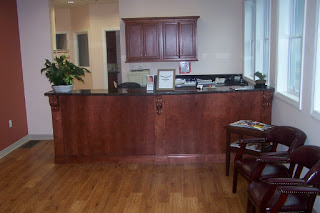 front desk/reception area